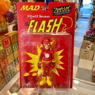 MAD Just-Us League of Stupid Heroes Alfred E.Neuman as The FLASH?
